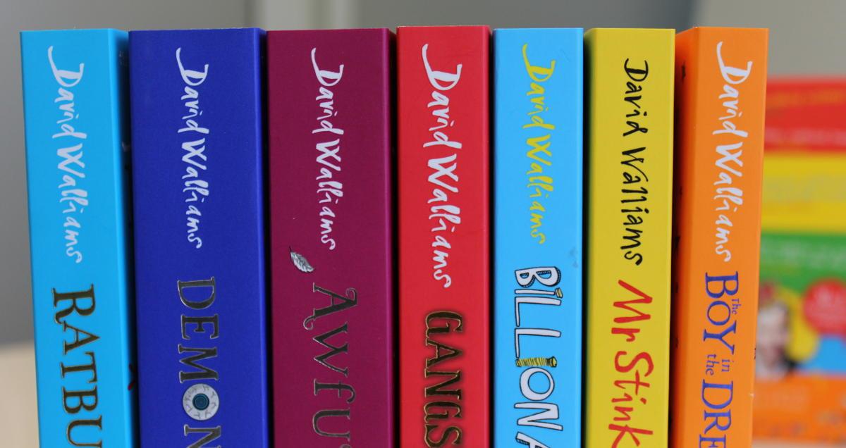 David Walliams book spines