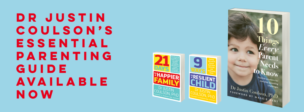 Justin Coulson's new book '10 Things Every Parent Should Know'