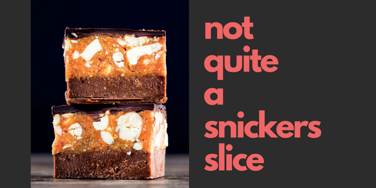 Not quite a Snickers Slice - Bianca Slade ABC