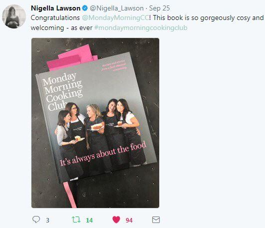 Nigella Lawson Monday Morning Cooking Club