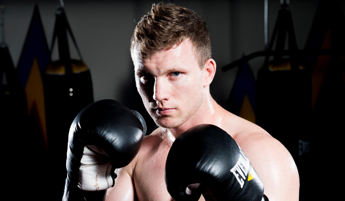 Jeff Horn looking to camera