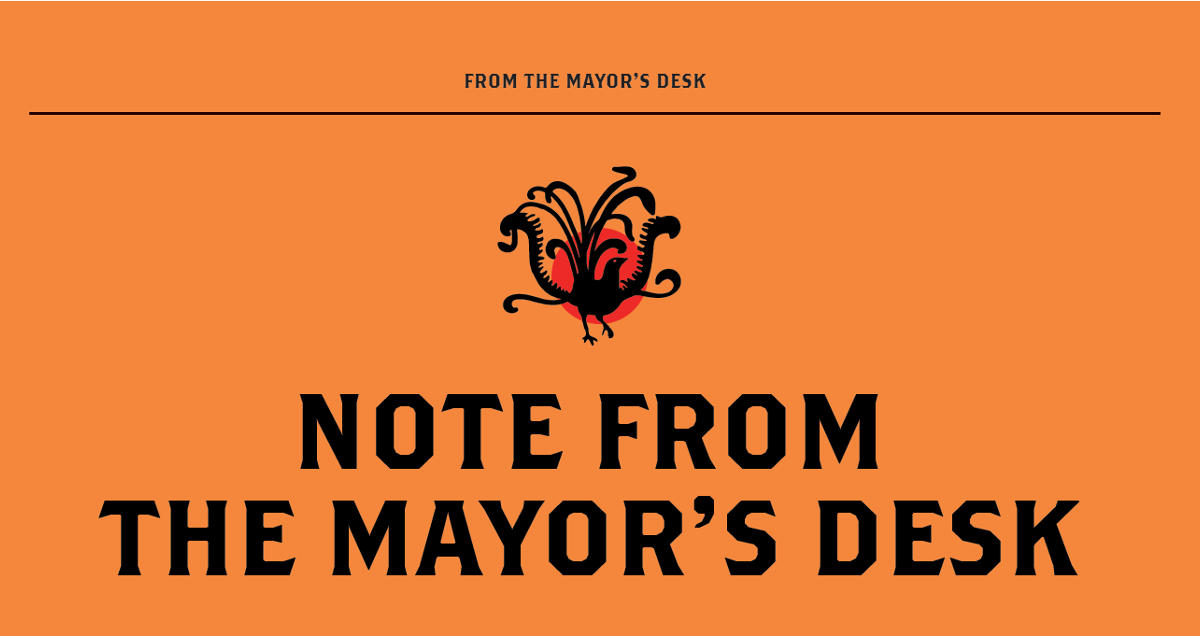 A Note From the Mayor's Desk
