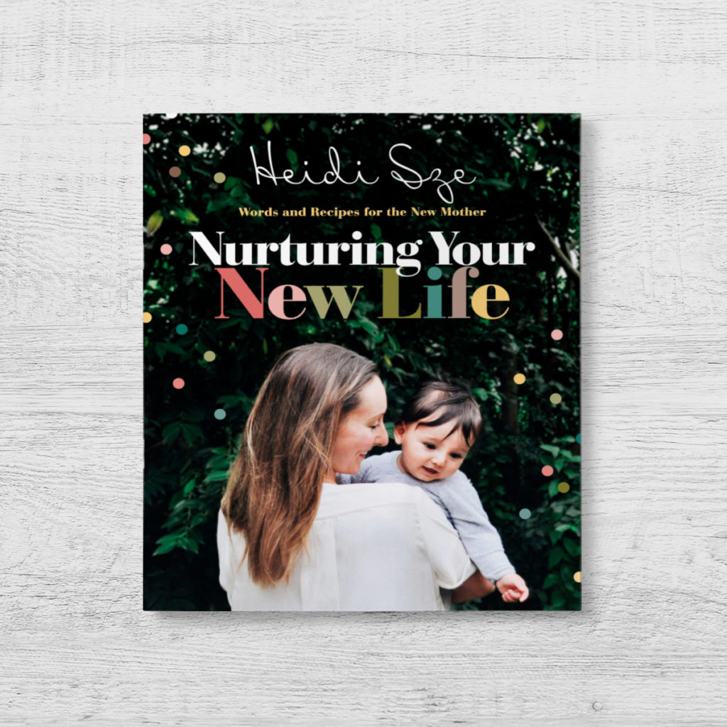 Woman holding baby - Book cover of Nurturing Your New Life by Heidi Sze